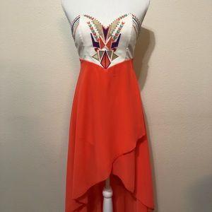 Dresses & Skirts - Summer high low strapless dress